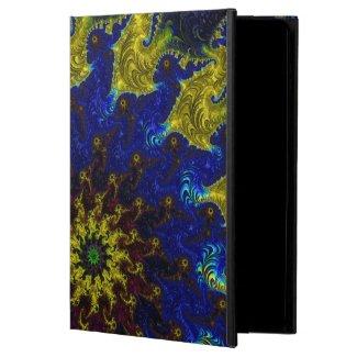 Blue,Gold,Burgundy Fractal Sun iPad Air POWIS Case