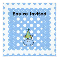 Blue Hippo Customized Birthday Invites