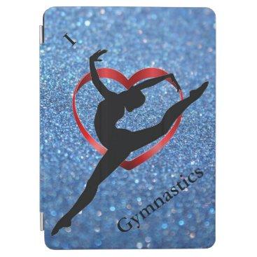 "Blue ""I Love Gymnastics"" iPad Smart Cover"