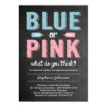 Blue or Pink Gender Reveal Baby Shower Invitation