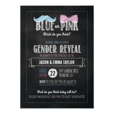 Blue or Pink Which Do You Think? Gender Reveal Card