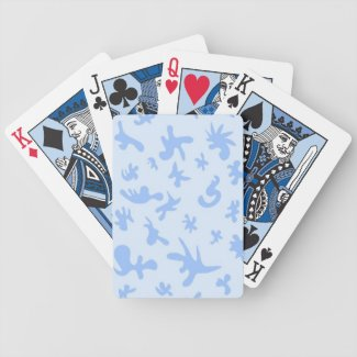 Blue Shape Pattern Playing Cards
