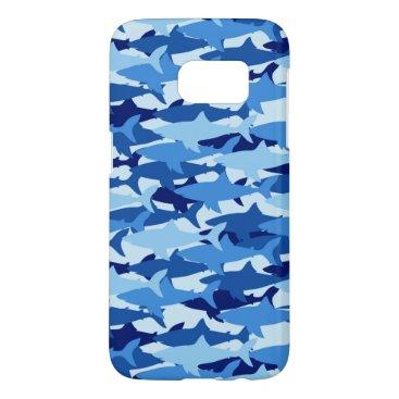 Blue Shark Pattern Samsung Galaxy S7 Case