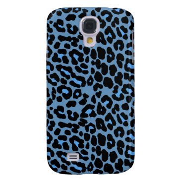 Blue Skies leopard print fashion design Galaxy S2 Galaxy S4 Case
