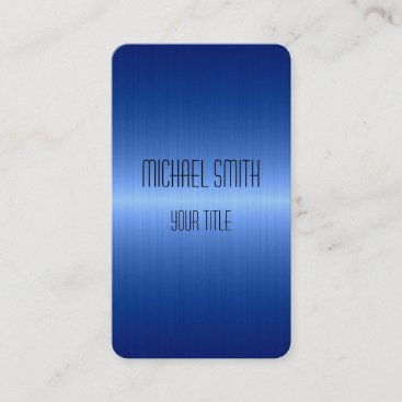 Blue Stainless Steel Metal Business Card