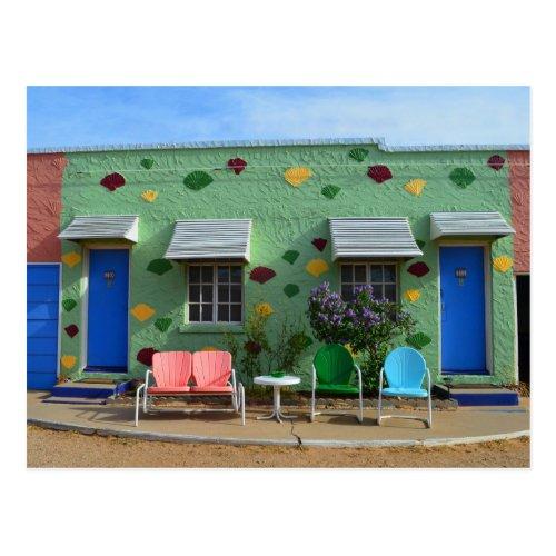 Blue Swallow Motel, Rooms 10 & 11, Tucumcari, N.M. Post Card