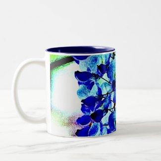 Blue Wisteria mug