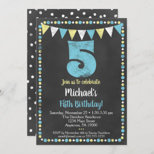 five year old boy birthday invitations
