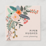 Blush | Boho Floral Square Business Card