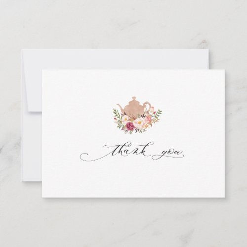 Blush Pink Floral Bridal Tea Party Thank You