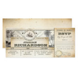 boarding pass birthday tickets voyage nautical invitation