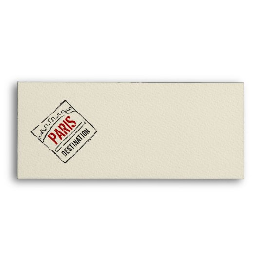 Boarding Pass Envelope With Passport Stamps Zazzle