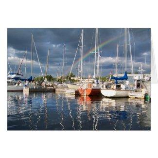 Boat Dock at Marina Photograph Greeting Cards