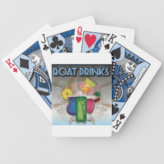 Boat Drinks Bicycle Poker Deck