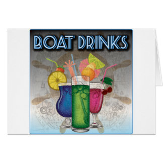 Boat Drinks Card