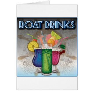 Boat Drinks Greeting Card