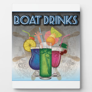 Boat Drinks Photo Plaques
