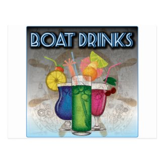 Boat Drinks Postcard