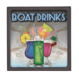 Boat Drinks Premium Jewelry Box