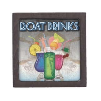 Boat Drinks Premium Trinket Box