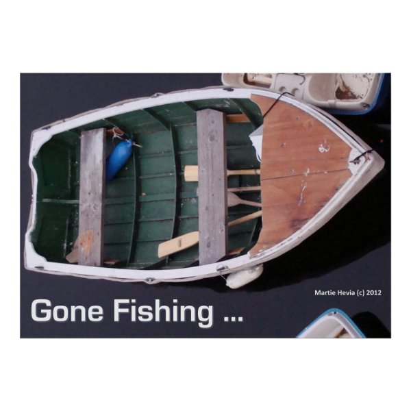 Boat - Gone Fishing - Poster