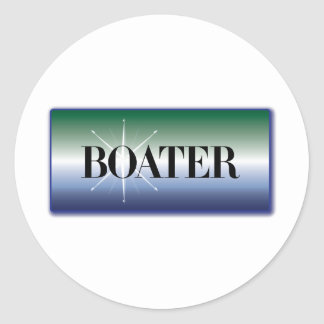 """Boater"" - Nautical Design Round Stickers"