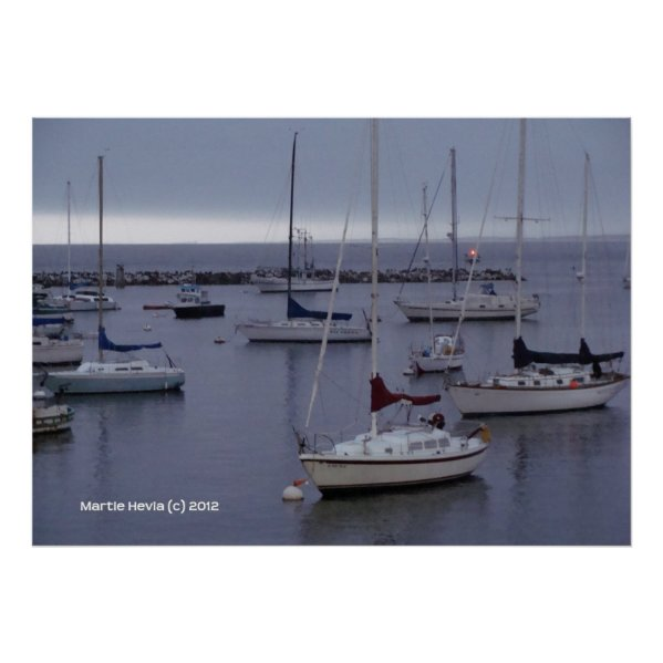 Boats on Monterey Bay zazzle_print