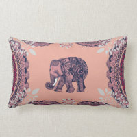 Bohemian Elephant Lumbar Pillow