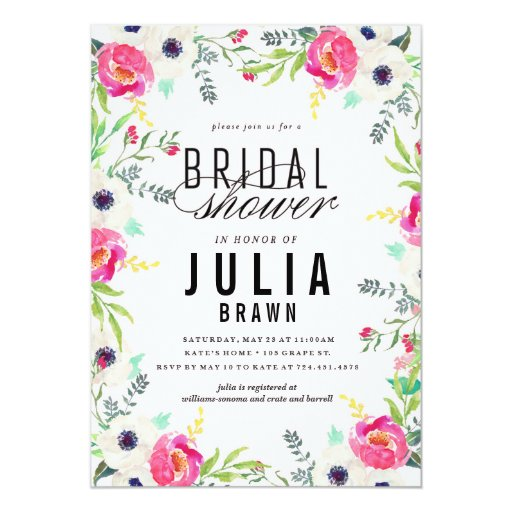 BOHEMIAN FLORAL bridal shower invitation