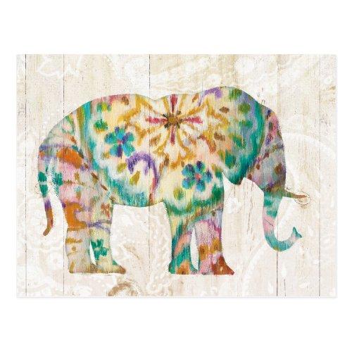Boho Paisley Elephant I Postcard
