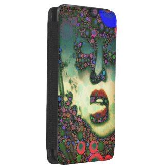 BOLD Abstract Art Woman Galaxy S5 Smartphone Pouch