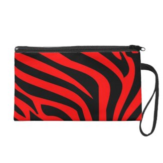 Bold Red and Black Zebra Cosmetic bag