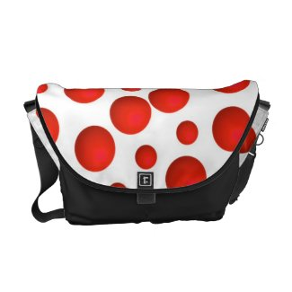 BOLD RED POLKA-DOT Messanger Bag