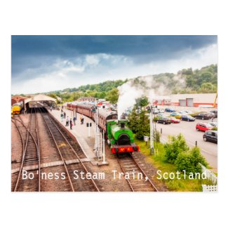 Bo'ness steam train, postcard