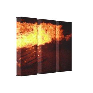 Bonfire Canvas Prints