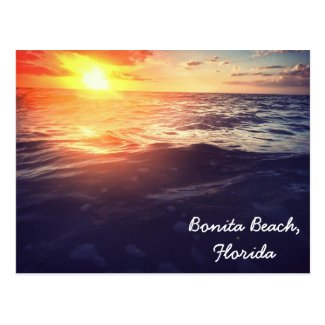 Bonita Beach Sunset postcard