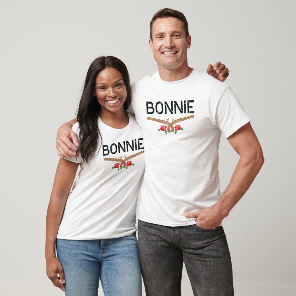 Cute Bonnie and Clyde Couple T-Shirt