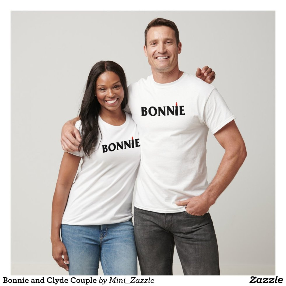 Cute Matching Couple Bonnie and Clyde T-Shirt