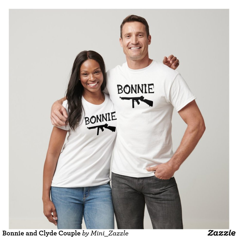 Matching Bonnie and Clyde Couple T-Shirt
