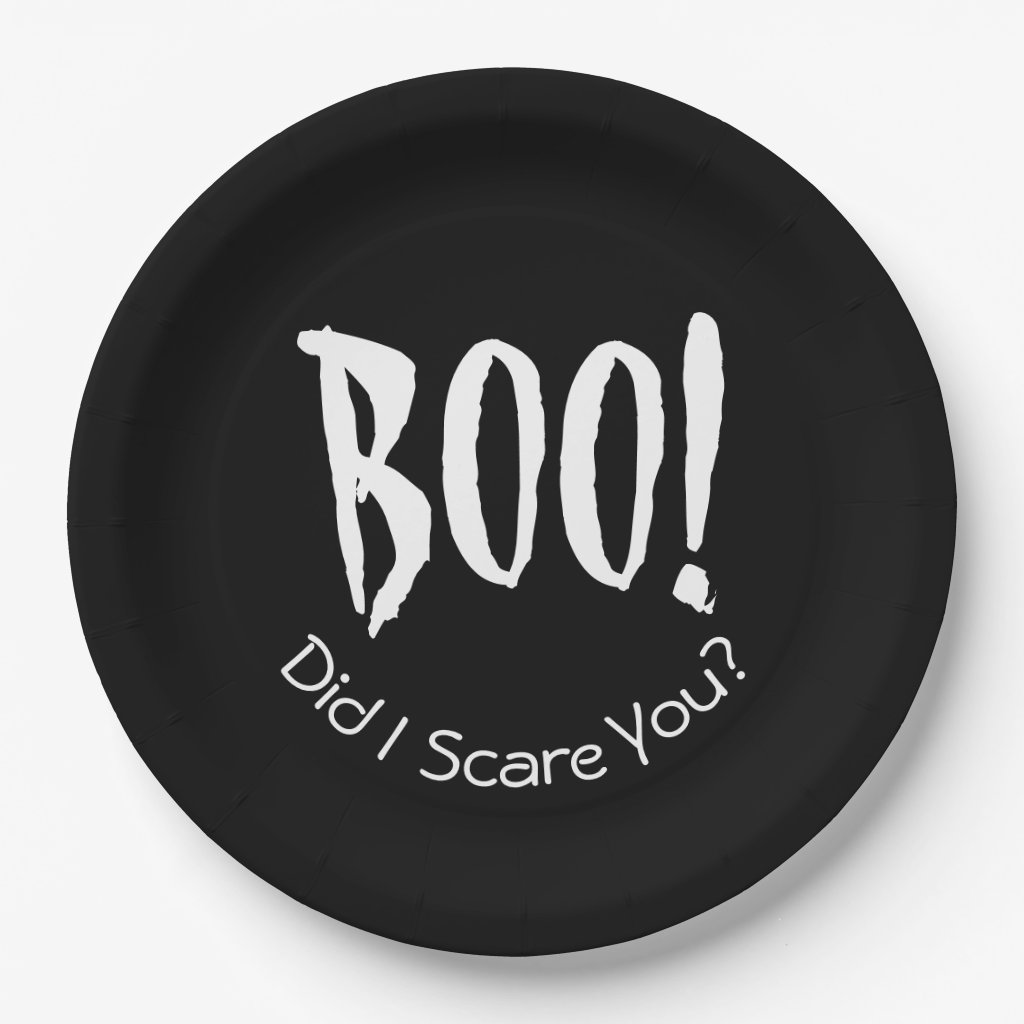 Boo! Did I Scare You Halloween Paper Plates