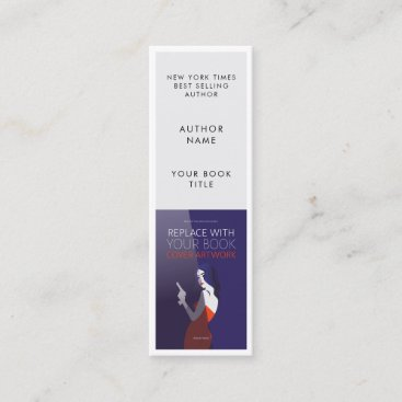 Book Launch   Author Promotional Bookmark Card