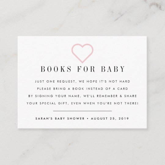 Book Request Baby Shower Invitation Insert Card
