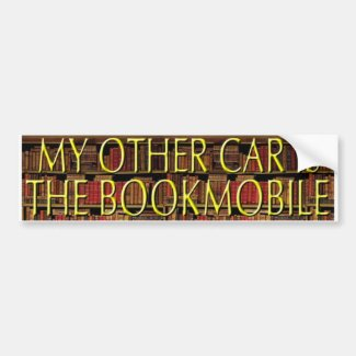 BOOKMOBILE CAR BUMPER STICKER