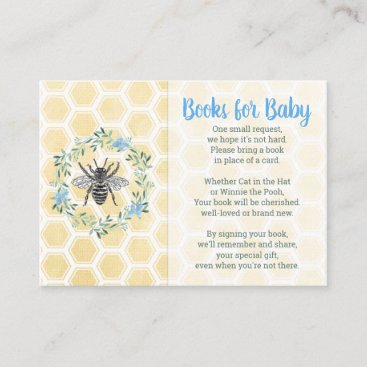 Books for baby library card boy blue baby shower