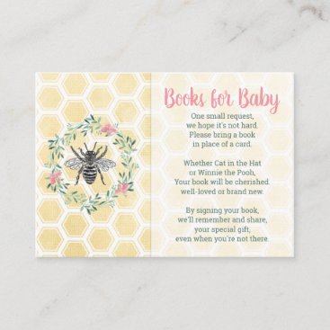 Books for baby library card girl pink baby shower