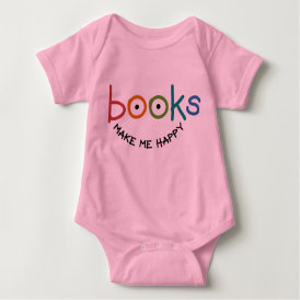 Books Make Me Happy Baby Bodysuit