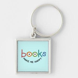 Books Make Me Happy Key Chains