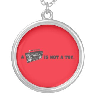 Boombox Is Not a Toy Pendant