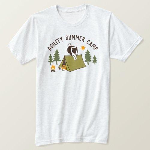 Border Collie Agility Dog Summer Camp Custom T-Shirt