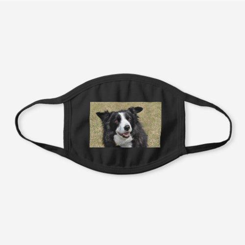 Border Collie Black Cotton Face Mask
